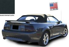 Ford Mustang Convertible Top & Defroster Glass Window Black Stayfast Cloth 94-04