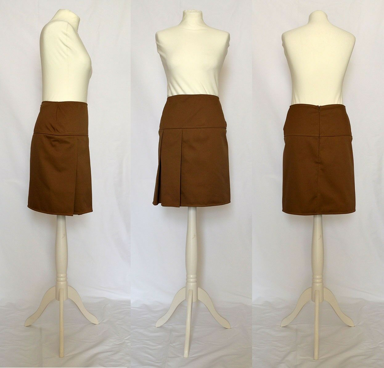 Brown casual formal asymmetrical pencil skirt Size 12