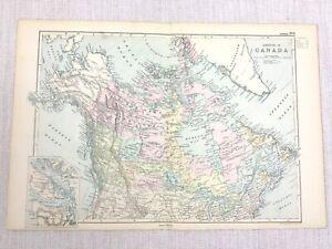 1892 Antik Landkarte Der Dominion Von Kanada Original 19th Jahrhundert G W Bacon