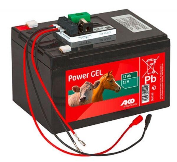 Kerbl 441215 AKO Weidezaunbatterie Batterie Power-Gel-Komplett-Set