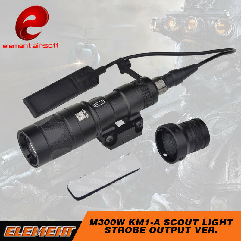 Element Airsoft M300W Scout Light KM1A Strobe LED Tactical Hunting Weapon Light