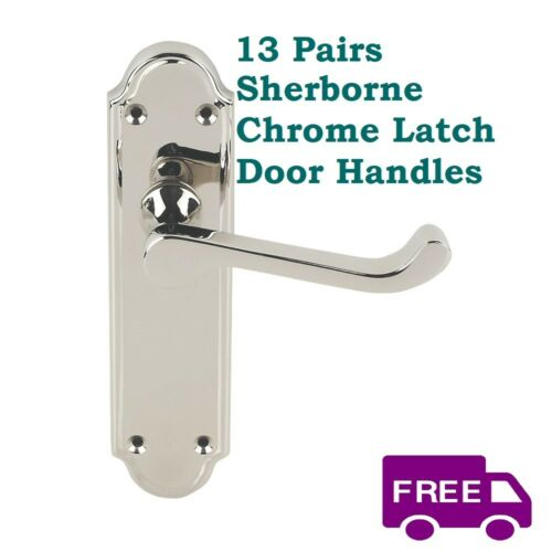 1-15 Sets Sherborne Chrome Interior Door Latch Handles FREE DELIVERY D1