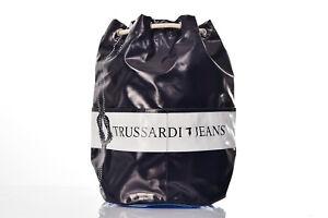 Damentaschen-Trussardi-Capri-75B00382-Tasche-Seil-Meer-Schwimmbad-Blau-Rot-Neu