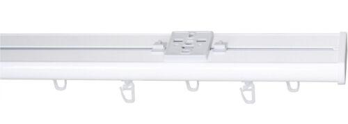 Rail System 3 provisional Curtain Rail Garesa Compact White 100-400cm aluschiene