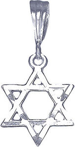 Sterling-Silver-Jewish-Charm-Star-of-David-Pendant-Necklace-Diamond-Cut-Finish