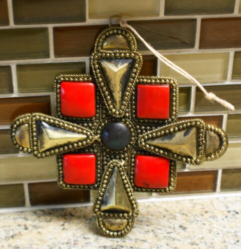 "4.5/"" x 4.5/"" New Pottery Barn MEDALLION Christmas Holiday Ornament"