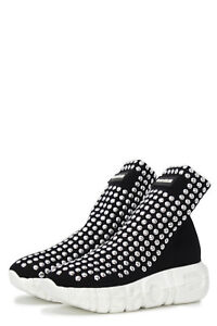 Sneakers-Donna-GIOSELIN-para-logo-borchie-war-studs