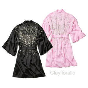 Victoria s Secret New York Fashion Show 2018 Pink Robe Black Limited ... e277a7c4f