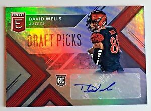 2018-PANINI-ELITE-DRAFT-PICKS-DAVID-WELLS-ROOKIE-RC-AUTOGRAPH-AUTO