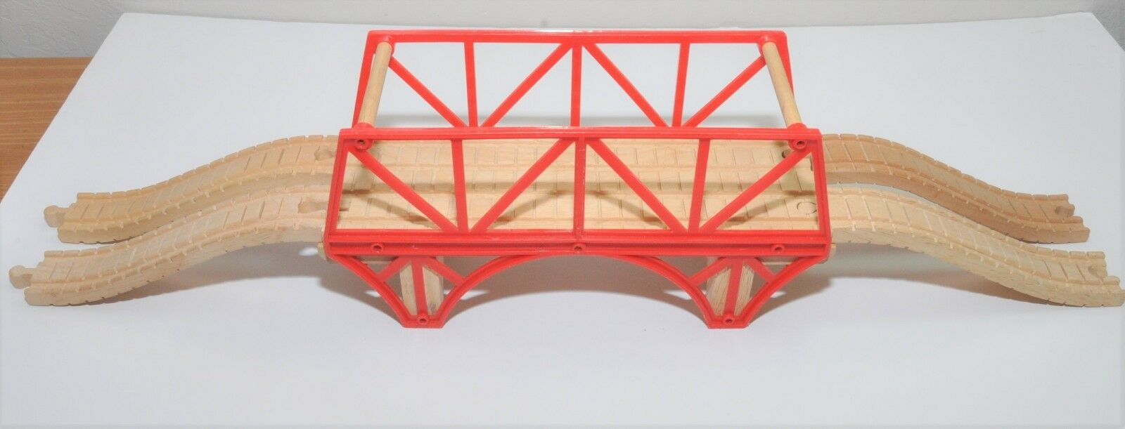 Very rare DOUBLE WIDE OLD IRON BRIDGE / RetiROT Thomas wooden piece