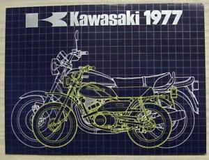 Details about KAWASAKI MOTORCYCLES RANGE 1977 Sales Brochure #99980-031-08  Z1000 Z650 KH250++