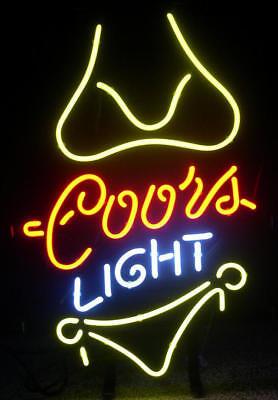 "Collectibles 13""x8"" Coors Light Yellow Bikini Beer Bar Tn Miller Lamp Iphone Neon Light Sign Demand Exceeding Supply Coors"