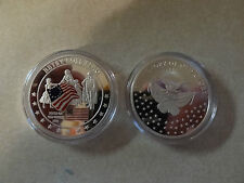 CHALLENGE COIN BETSY ROSS FLAG HISTORY OF OLD GLORY BIRTH 1777 FREE CAPSULE