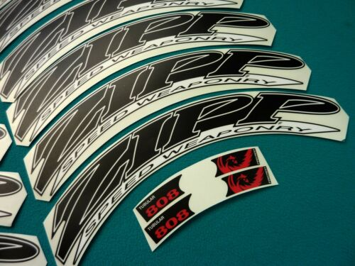 ZIPP 808 2012 SPEED WEAPONRY BLACK /& WHITE REPLACEMENT RIM DECAL SET FOR 2 RIMS