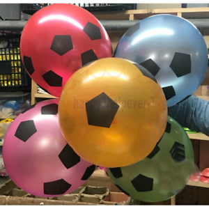 """12/"""" Football Balloons Assorted Mix Colours New Design Helium Quality Baloon balo"""