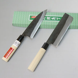 handmade japanese knives japanese kurouchi kitchen knives set funayuki knife 7904
