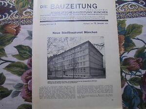 100% Vrai 1929 Bauzeitung 2 Munich Plusieurs Nouvelles Construire/architecte Friedmann Hambourg-afficher Le Titre D'origine Dissipation Rapide De La Chaleur