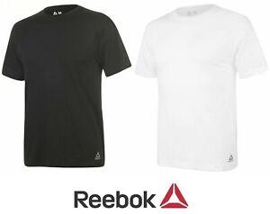 Reebok Mens Crew Neck Short Sleeve T-Shirt Casual Top Gym  Tee-GREY-2XL Genuine