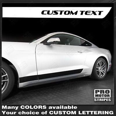Ford Mustang 1994-2019 Rocker Panel Strobe Side Stripes Decals Choose Color