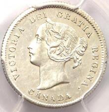 1872-H Canada Victoria 5 Cent Coin (5C) - Certified PCGS AU Details!