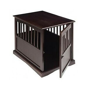 Dog Kennel Wood Large Crate Puppy Pet Cage Wooden Furniture End Table Bed Ebay