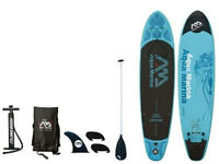 Aqua Marina Vapor 10 Foot Inflatable Stand Up Paddle Board Sup-515857 on sale