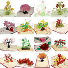 Newest Greeting Cards 3D Pop Up A variety of styles Handmade Flower Thanksgiving