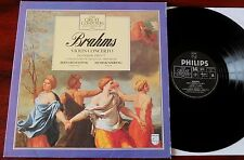 PHILIPS 410 491-1 BRAHMS VIOLIN CONC LP SZERYNG EX++ UK (1982 ) (RE) +BOOKLET