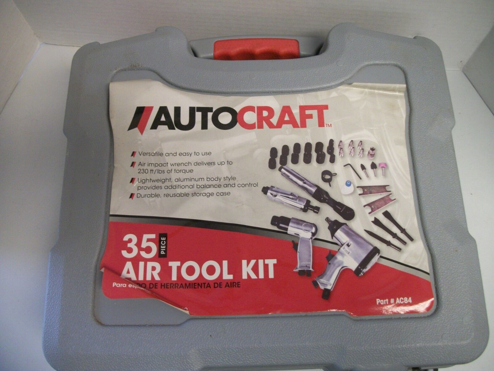 AutoCraft 35 Piece Air Tool Kit AC84 Air Tools Only