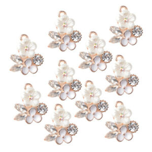 10pcs-Faux-Pearl-Flower-Buttons-Rhinestone-Embellishments-DIY-Jewelry-Charms