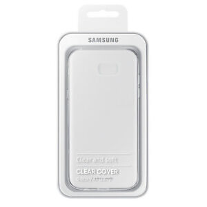 finest selection 726e1 30b01 Details about GENUINE Samsung Galaxy A7 (2017) Official Clear Cover Case |  EF-QA720TTEGWW