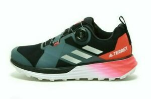 ADIDAS-Men-039-s-Terrex-Two-Boa-Trail-EE8822-Black-Silver-Metallic-Solar-Red-Shoes
