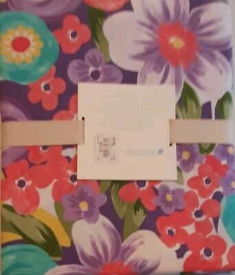 Pottery Barn Kids Multi Colors Pink Poppy Floral Twin