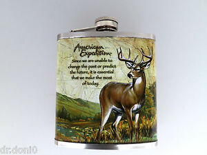 Flasque plat hommes poches flacon Deer plask termosflasche NEUF  </span>