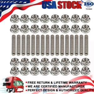 16 Set Exhaust Manifold Studs Kit For Ford Expedition Mustang Explorer 4.6L 5.4L