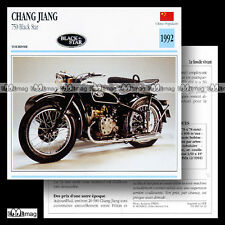 #014.12 CHANG JIANG 750 BLACK STAR 1992 Fiche Moto Motorcycle Card