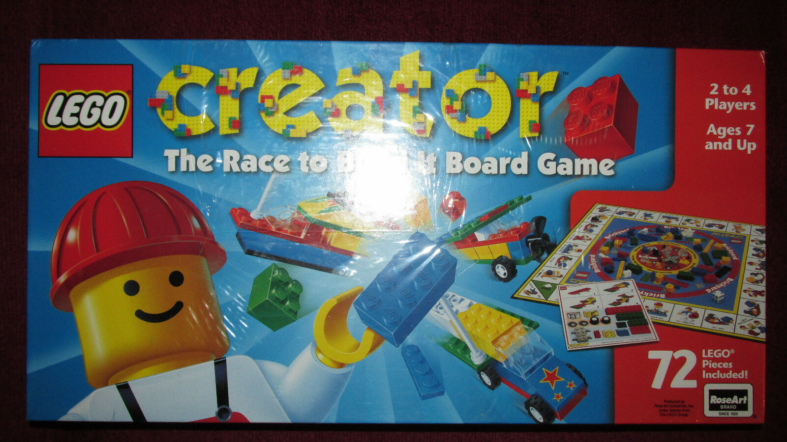 LEGO The Race to Build it jeu de plateau vintage rare Educational NEW FACTORY SEALED