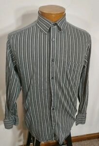 Ben Sherman Long Sleeve Button Front French Cuff Grey Cotton Mens Shirt 15-32/33