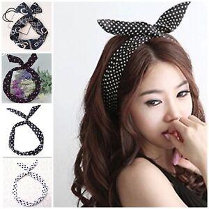 Metal Wire Wired Headband Hair Band Rabbit Ear Hair Band Scarf ... 20bc5b132b7