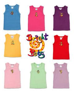 Bright-Bots-Singlet-Vest-tank-Boy-Girl-Winter-Summer-100-cotton-sz-0-1-2-new