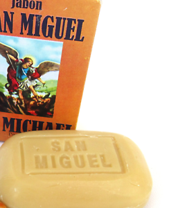 San-Miquel-Soap-One-Bar-70g-Curandera-Wicca-Spells-St-Michael-Archangel-C21