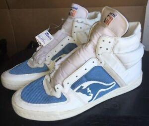 Details about Vintage 1980s Kangaroos Roos Basketball High Tops Shoes Men\u0027s  Size 17 Zipper