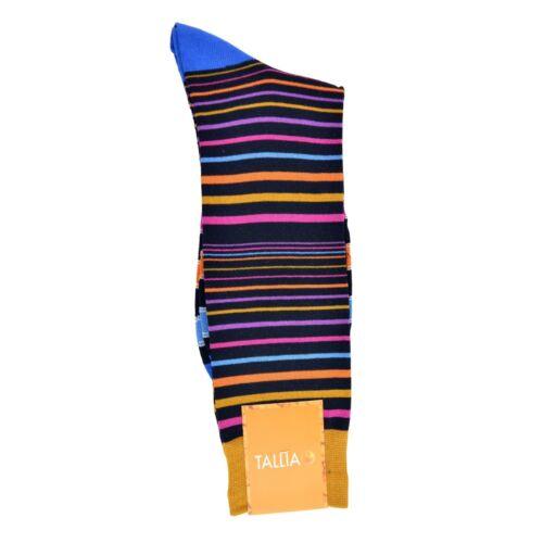 Tallia Orange Men/'s Cotton Blend Striped Fashion Dress Socks 1 Pair