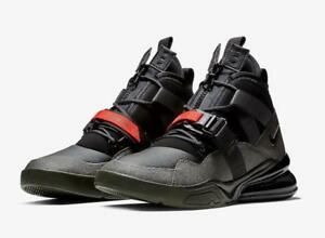 NIKE-AIR-FORCE-270-UTILITY-AQ0572-300-SEQUOIA-DARK-GREEN-BLACK-HABANERO-RED