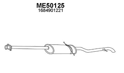 Silenziatore Marmitta Posteriore Mercedes A140 1.4