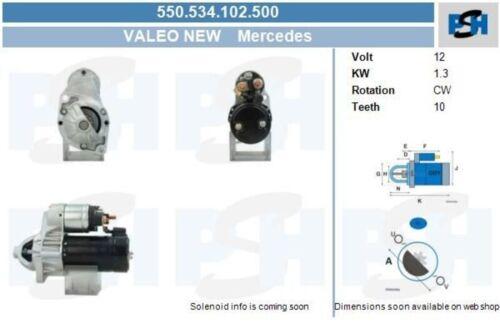 BV Pzhe Starter motor de arranque start apéndice sin depósito 550.534.102.500