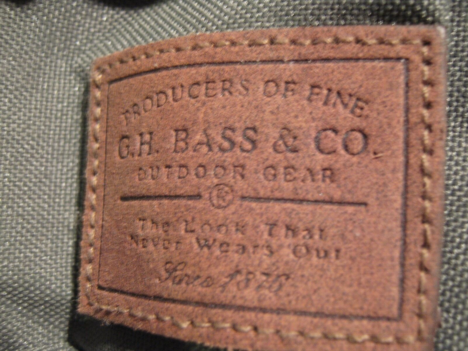Camping Bag, G.H. Bass and Co.Green Bag With Space For
