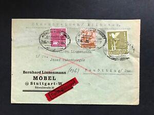 Alliierte-Besetzung-Einschreiben-Eilboten-Stuttgart-Neuoetting-Bahnpost-1947