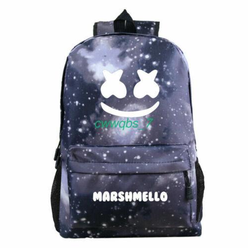 Marshmello Backpack School Rucksack Travel Laptop Mask DJ For Boys Girls Bag HOT