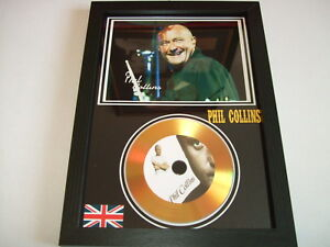 phil collins signed gold disc